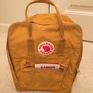 FjallRaven Kanken Backpack Mustard color